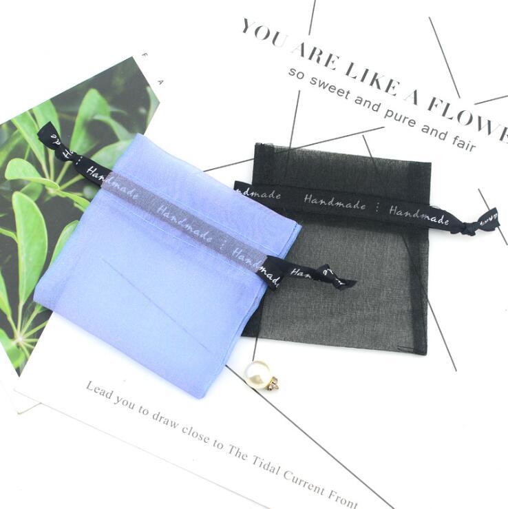 Custom logo Printed Mini Organza bags and transparent yarn bags