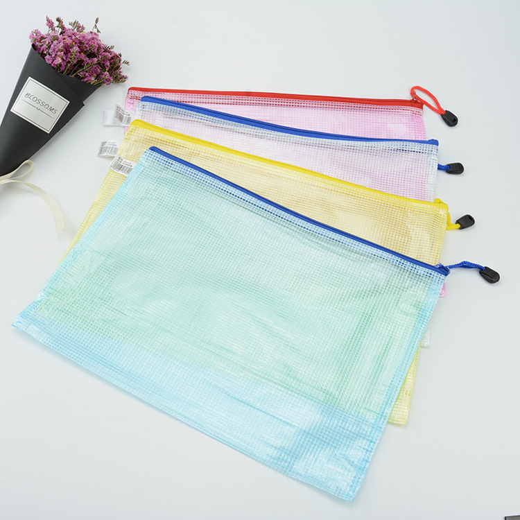 Custom Standard Size Zipper Plastic File Folder Document Bag