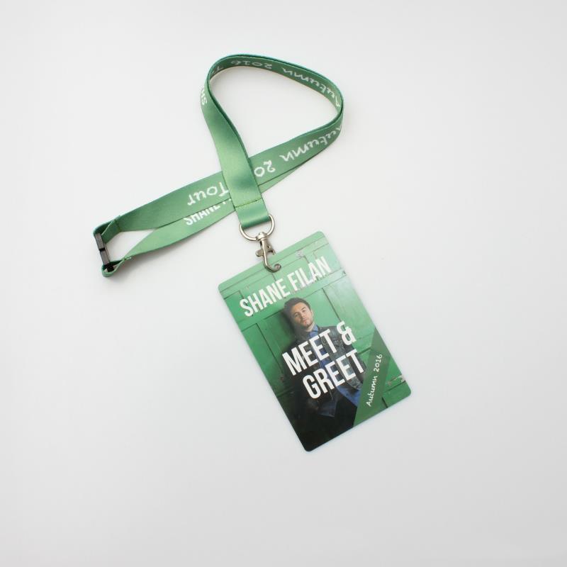 Promotional Custom Logo Neck Nylon Sublimation Heated Transfer Printing Polyester Lanyard With Id Card Holder
