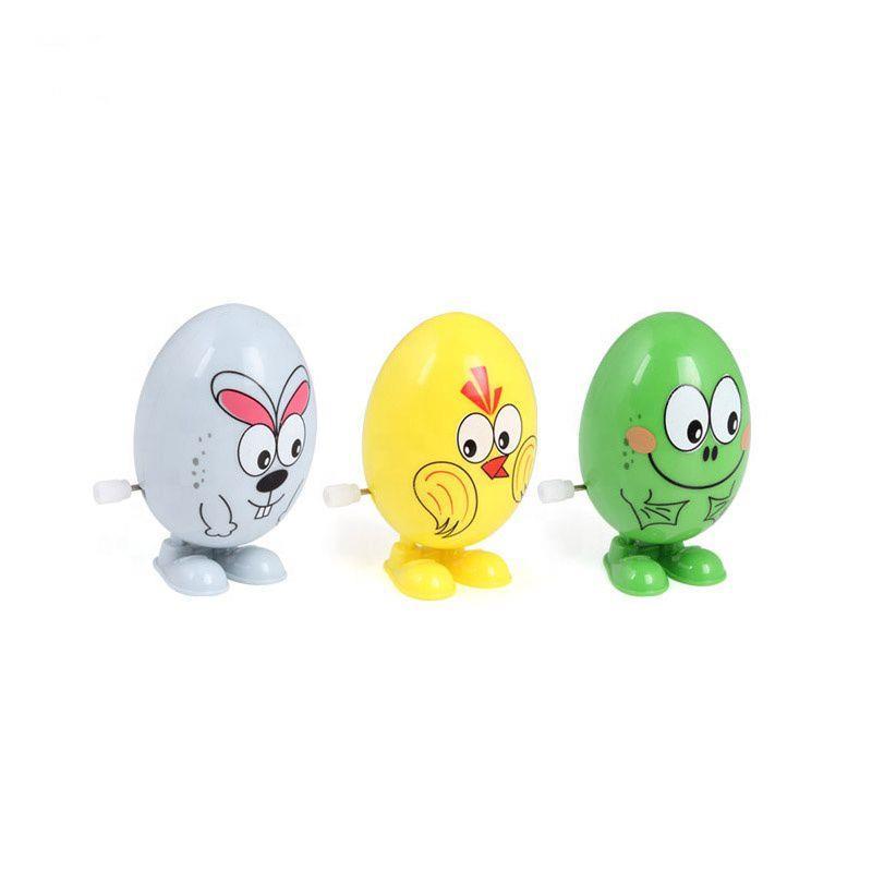 Small Wind Up Egg Cartoon Animals Toy