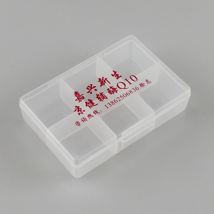 plastic 6 days pill box, clamshell pill box organizer