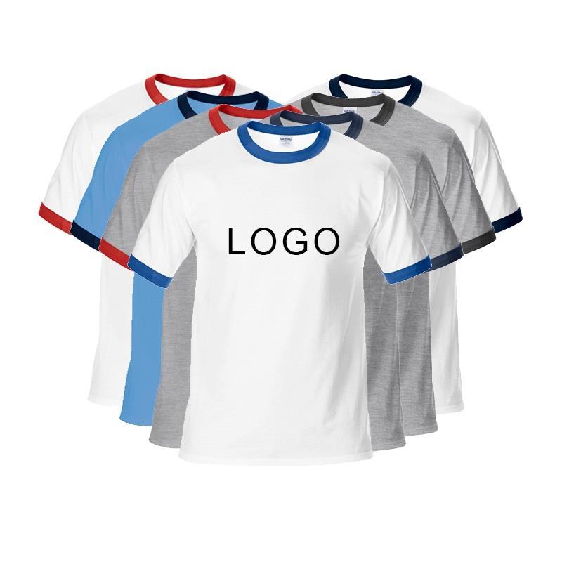 2020 New Design 180gsm Custom 100% Cotton Mens Ringer T Shirts