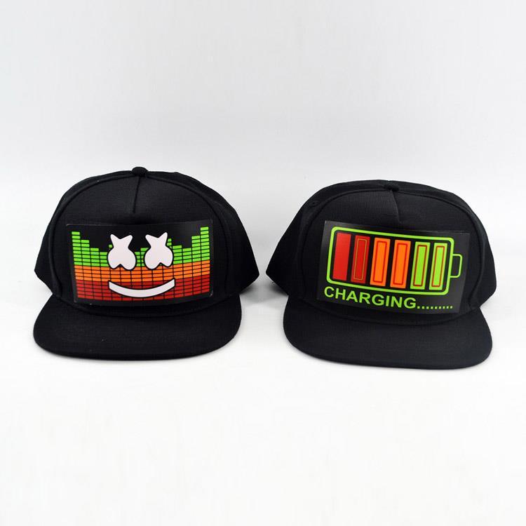 Customized Logo Sound Activated Led Caps, Music Beat Led Hat, Light Up Baseball Hat