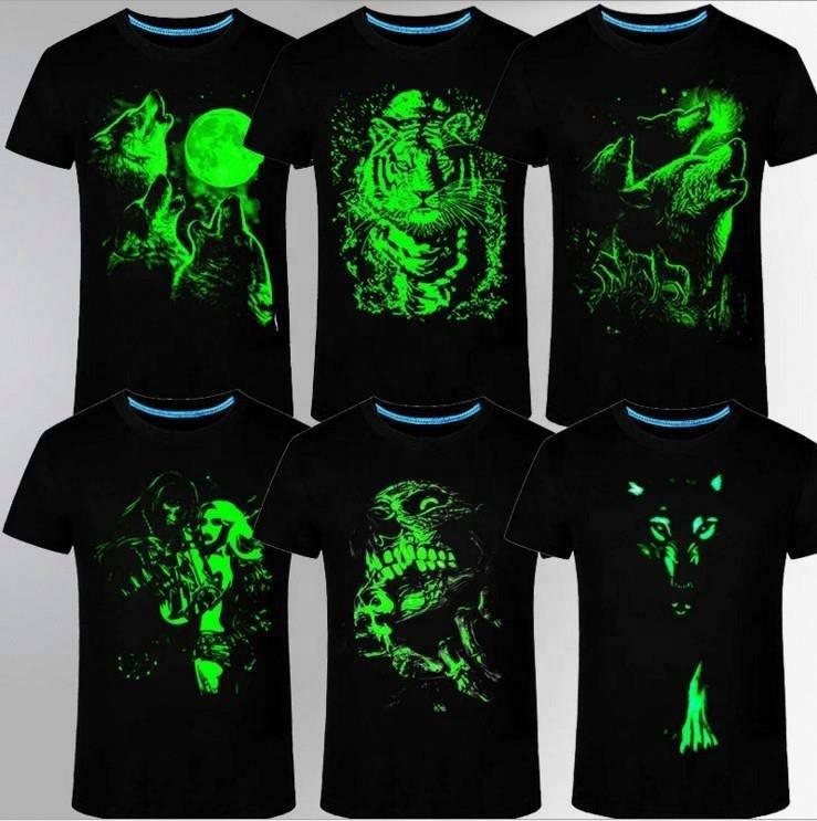 Promotional Custom T Shirt Printing, Luminous T Shirt For Men