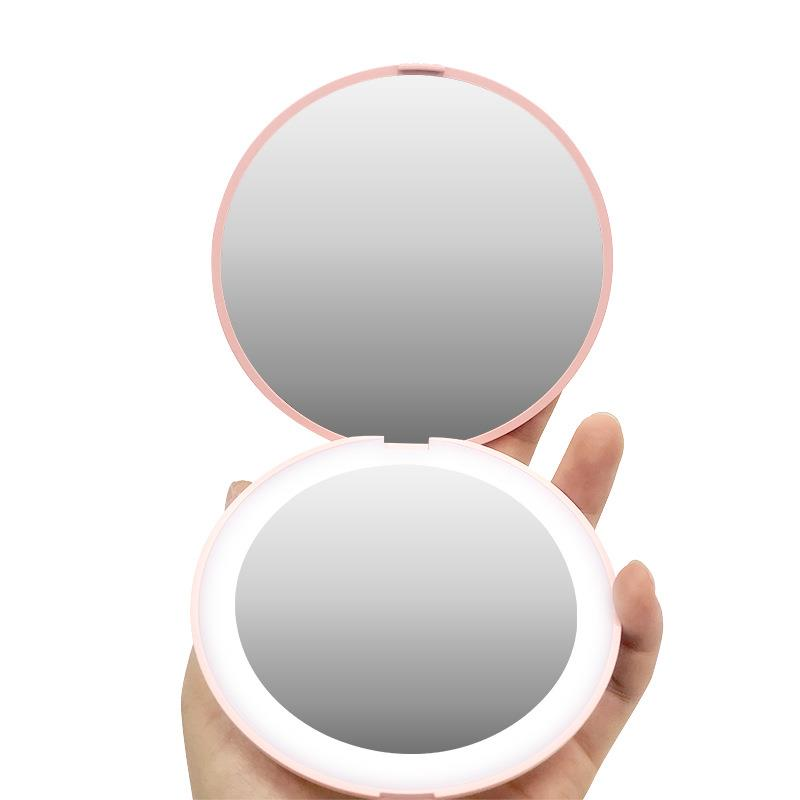 LED compact makeup mirror portable lighted bag mirror