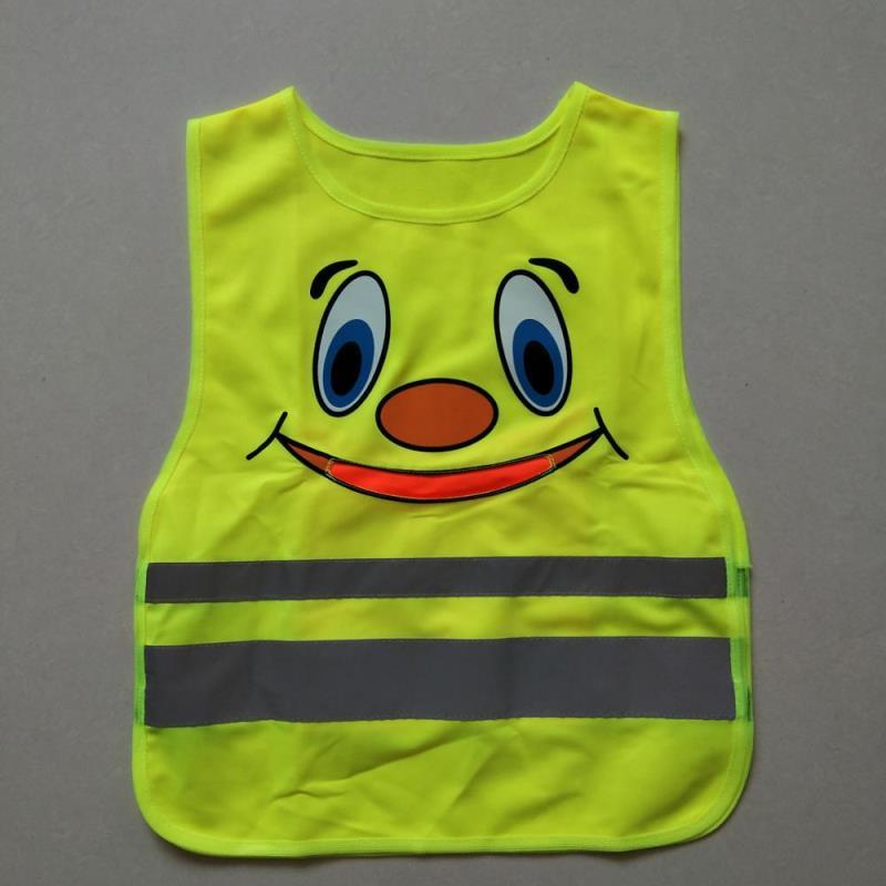 100%polyester reflective children safety vest