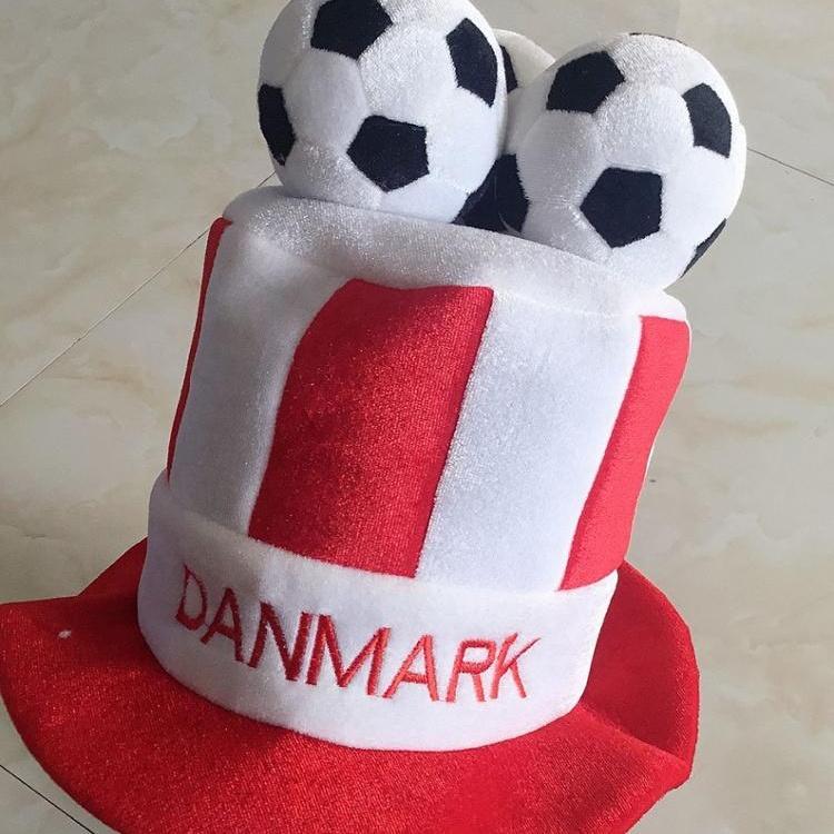 2020 Custom european cup good quality free sample fun football party hat
