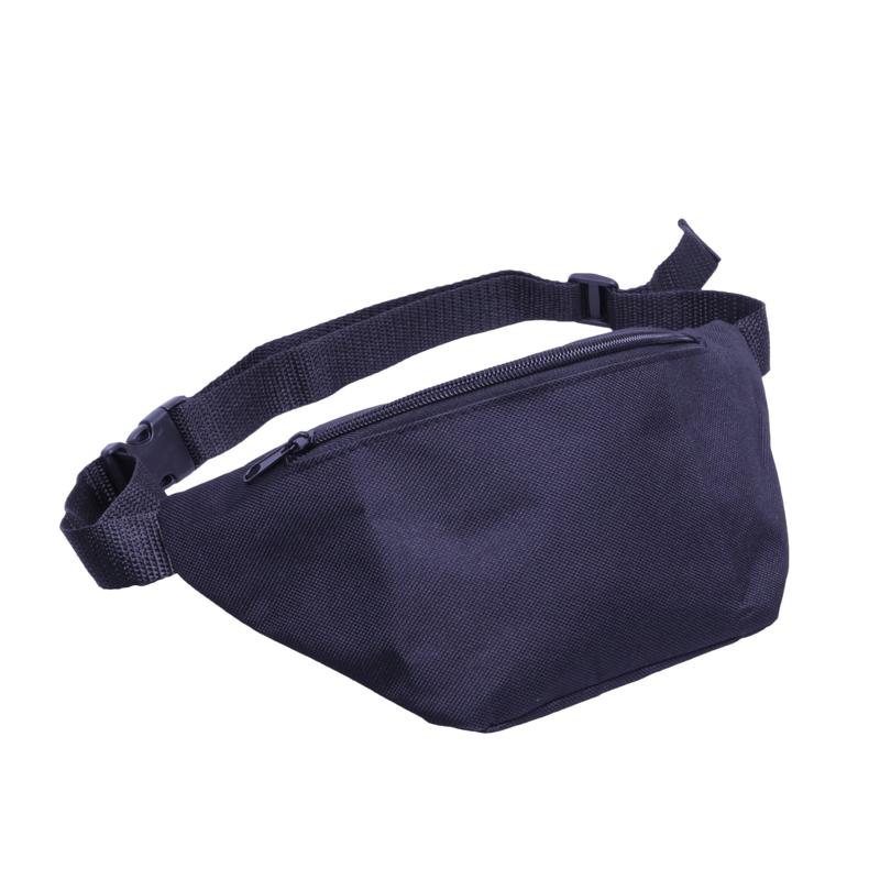 Promo Custom two Pocket travel running 420D Nylon Fanny Pack sport waist bag