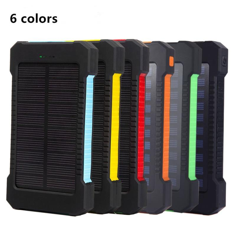 2020 trending products Solar Power Bank External Battery charge Dual USB Powerbank Portable