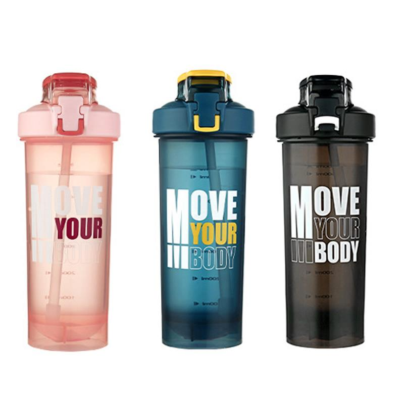 2020 new BPA free custom logo plastic gym sport protein shaker water bottle