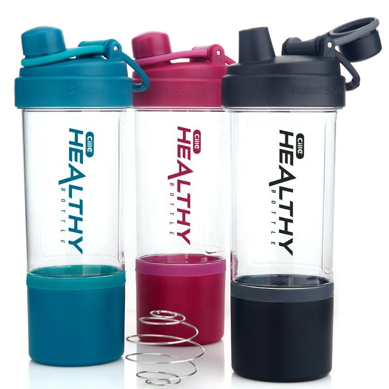 Custom 850ml Drinking Water Bottle Drinkware Type Plastic Sports Protein Shaker Water Bottle BPA Free Shaker Bottle