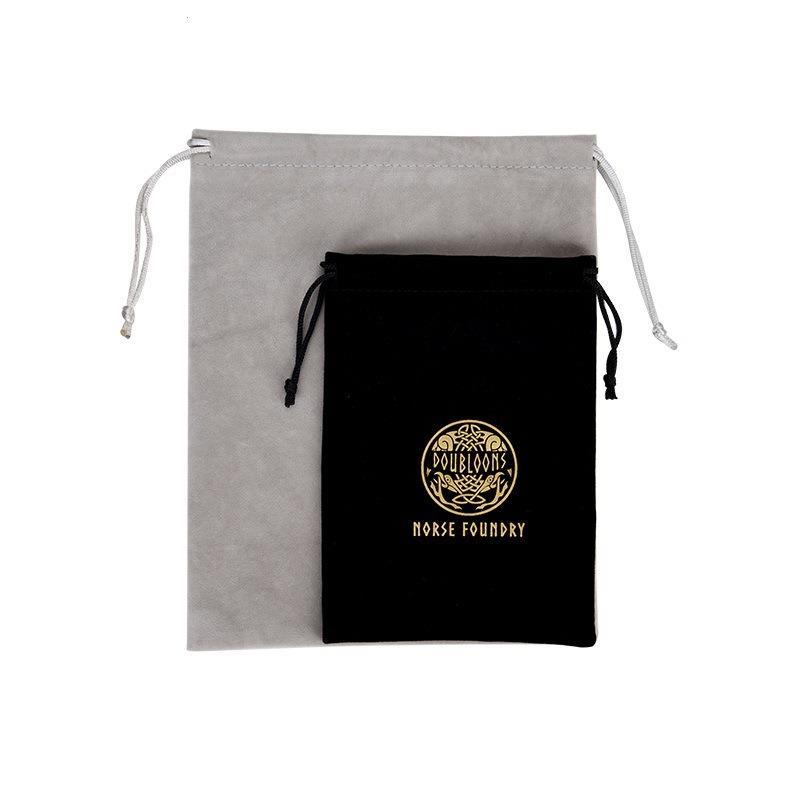 Custom Logo Printed Velvet Jewelry Drawstring Bag Pouch