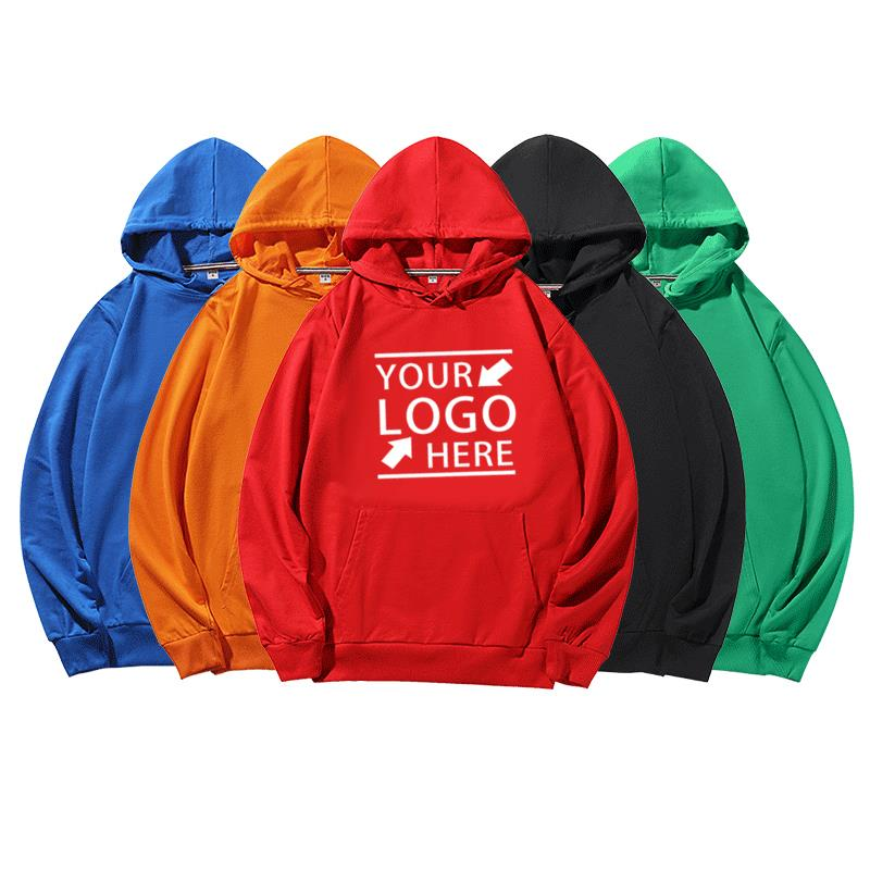 Custom Embroidery Blank Unisex Cotton Polyester Promotion Advertise Men's Hoodies