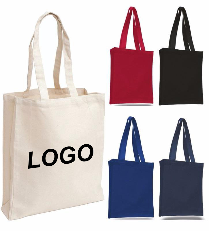 Promotion full color custom printed canvas tote bag with your own logo