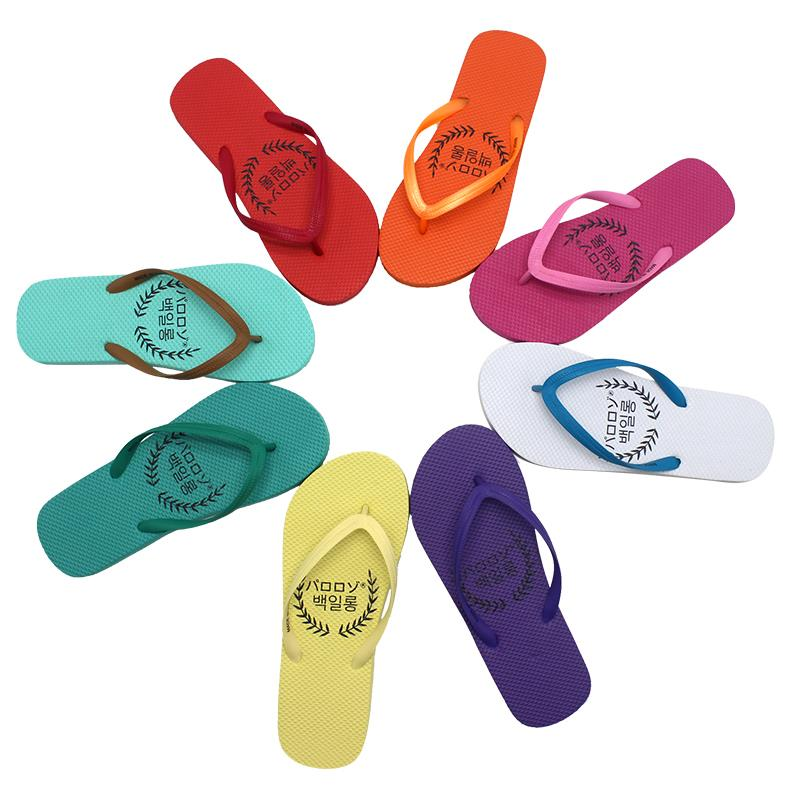 Flip-flops Multicolor slippers Oem Logo sublimation Print blanks Design cheap woman flip flop for beach