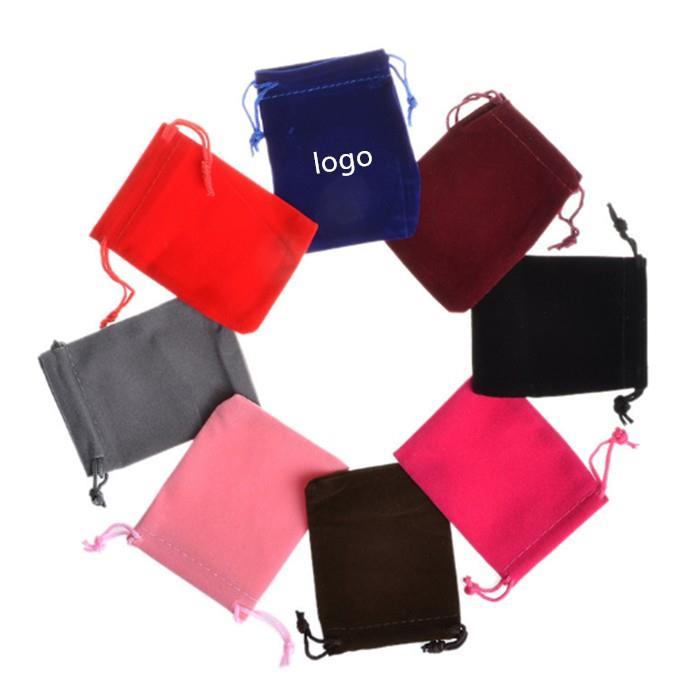 Wholesale shenzhen velvet drawstring bag