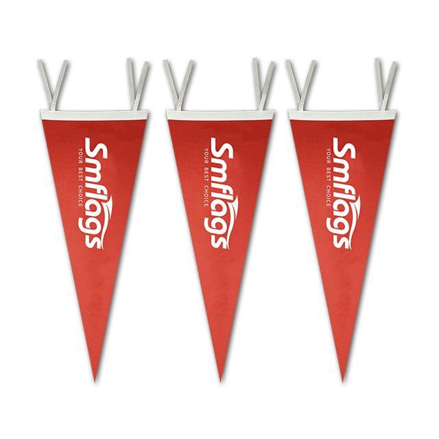 Custom color printing felt school triangle flag pennant style banner