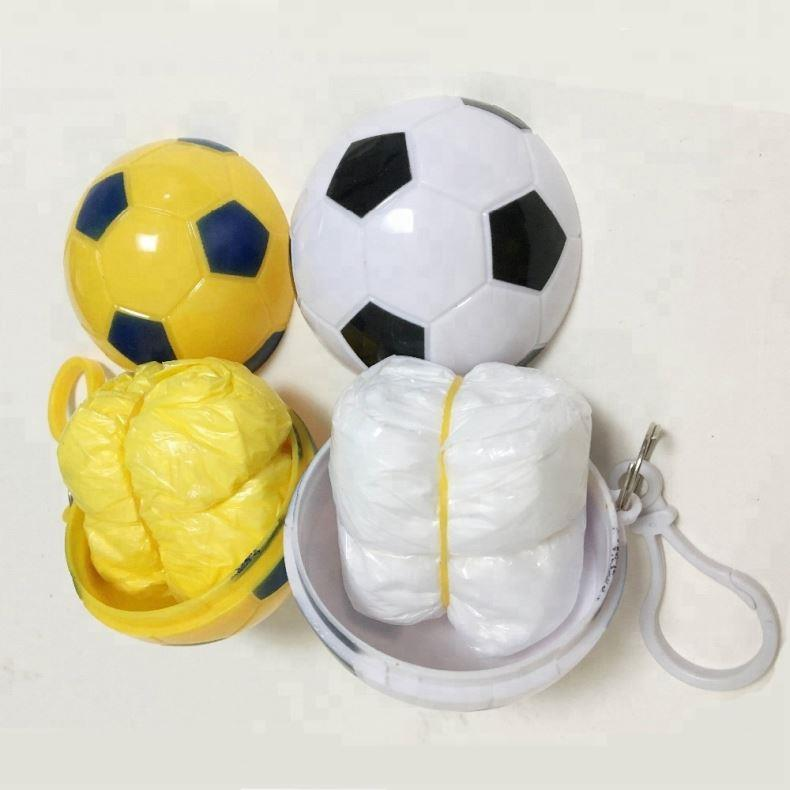 Football Disposable PE Raincoat
