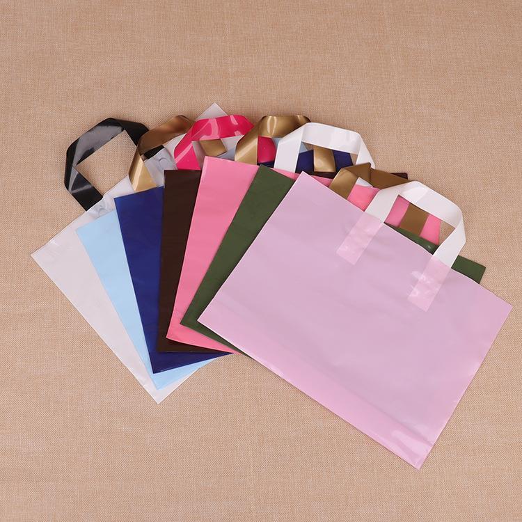 Customized Logo Printing PE Plastic Tote Shopping Bag