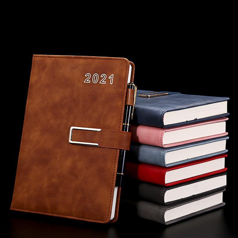 custom soft cover pu leather agenda diary