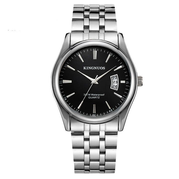 Men Watch Business Alloy Watch Auto Date Waterproof Watch
