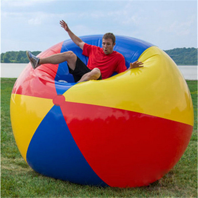200cm Giant Colorful Beach Volleyball Inflatable Beach Ball Inflated ball toys