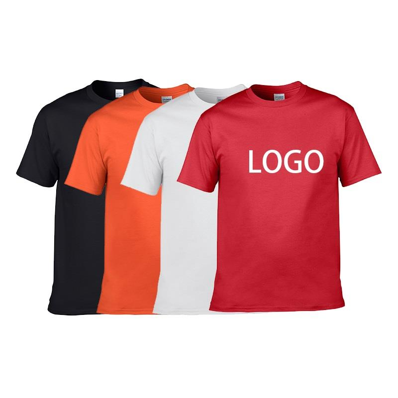 Embroidered Short Sleeve Mens Plain T Shirts 100% Cotton