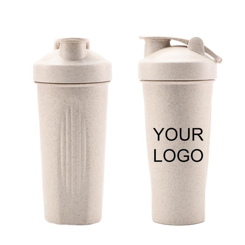 Protein Plastic Fitness Wheat Straw Sports Shaker Bottle