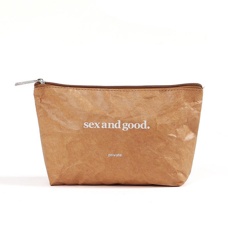 2021 DuPont Paper Cosmetics Bag Environmental Storage Bag Waterproof makeup bags