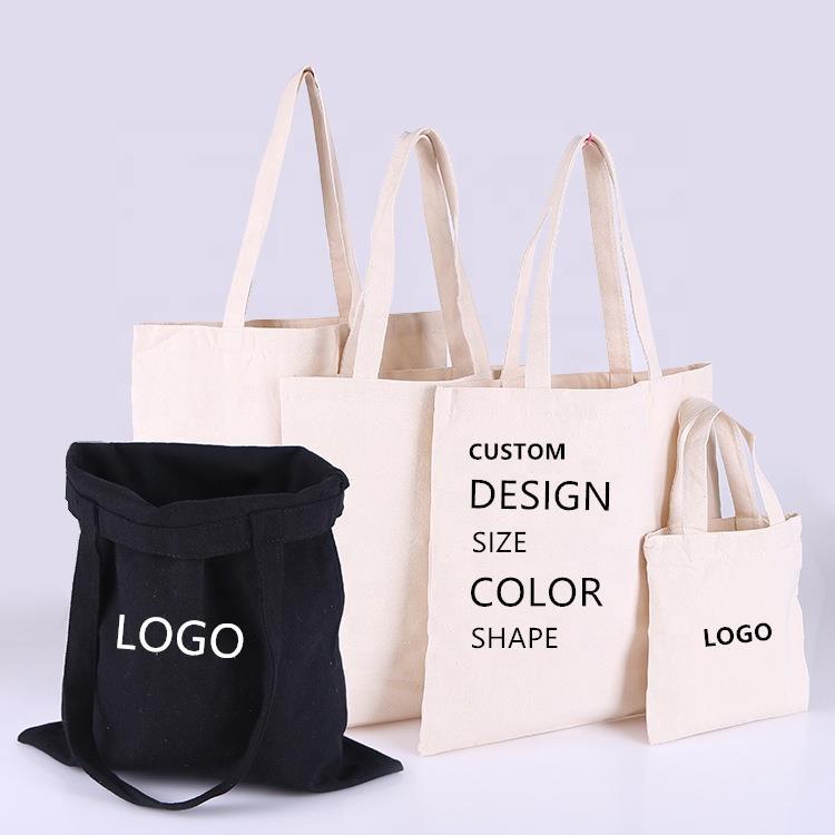 Custom Cotton bag 100% Cotton Tote Bag Cotton Shopping Bags with Logo