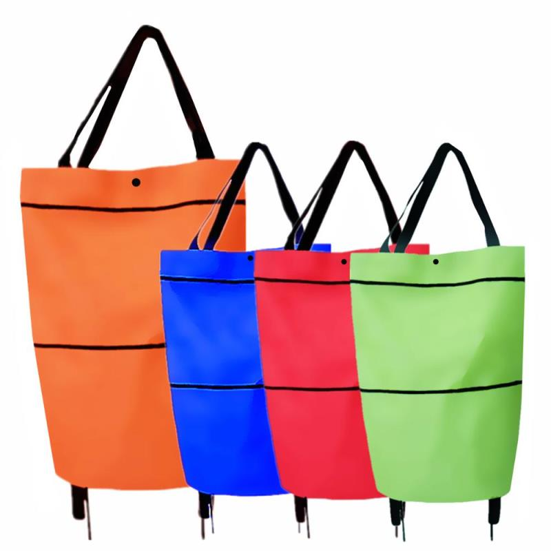 customized folding grocery trolley shopping bags wheels vegetable