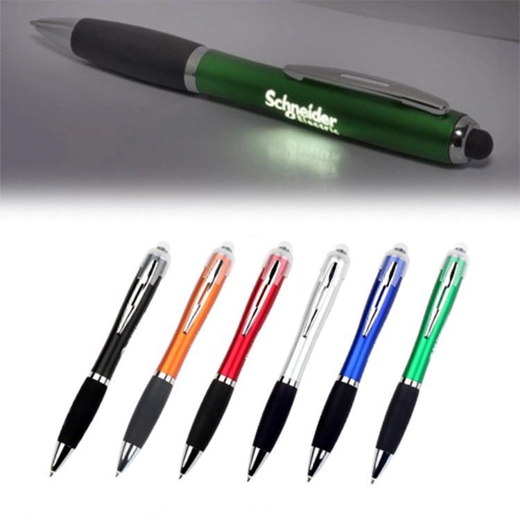 3-in-1 touch screen ballpoint pen led flashlight Plastic Ballpen with led