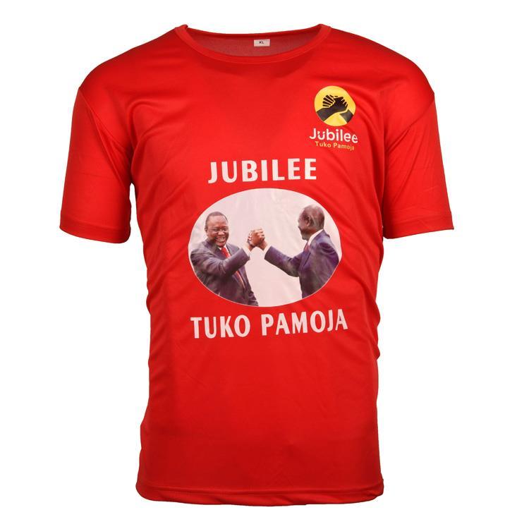 Wholesale bulk plain red color campaign cotton men election tshirt
