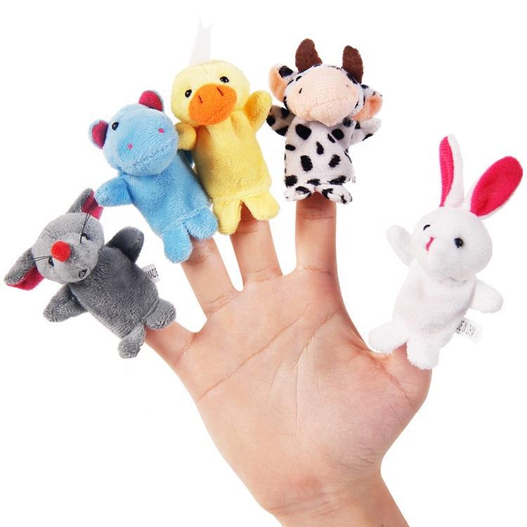 OEM/ODM custom cute cartoon felt plush family mini finger puppet