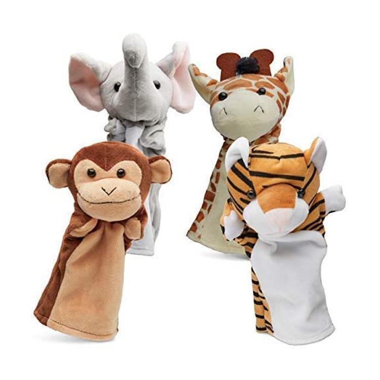 Soft Plush Stuffed Cute Realistic Baby Dinosaur Puppets