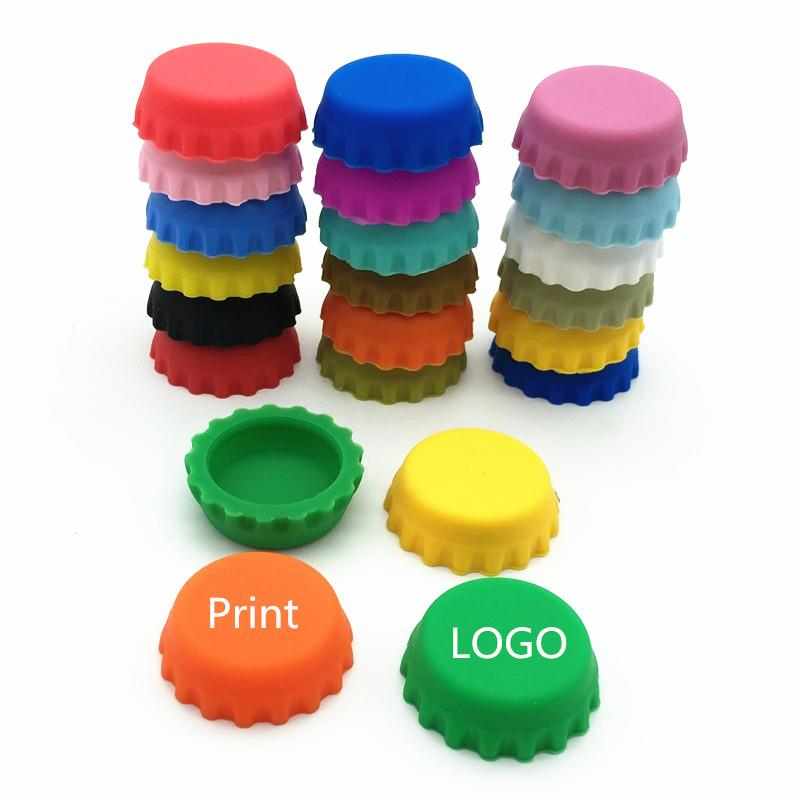 customized colors Stopper Silicone Beer Bottle Crown Caps beer saver