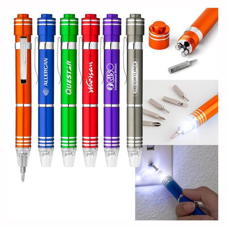 6 IN 1 Pen-shaped Pocket LED Screwdriver
