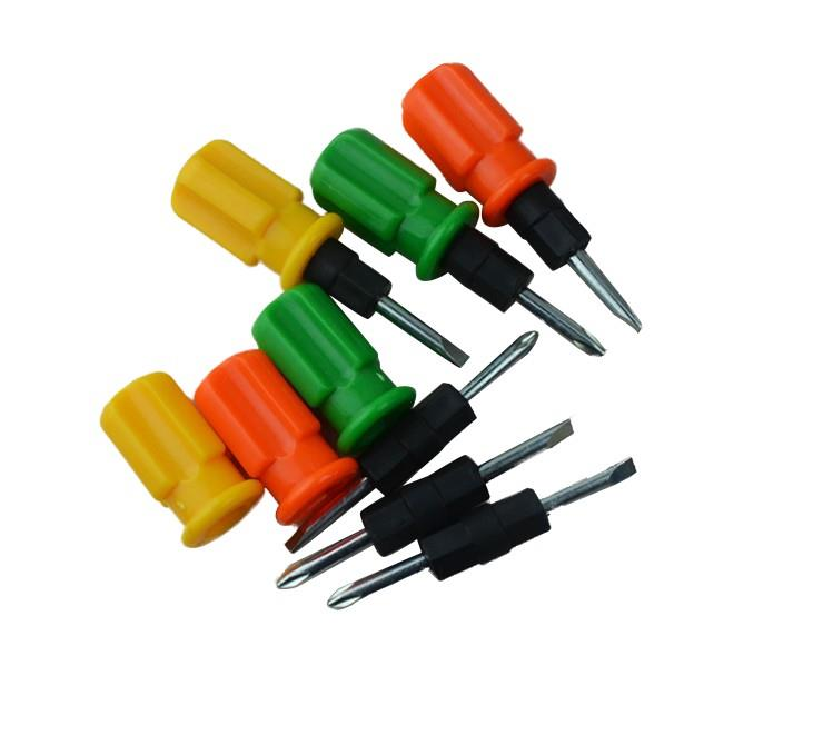 Plastic Handle Mini straight Screwdrivers Tools Box Screwdriver