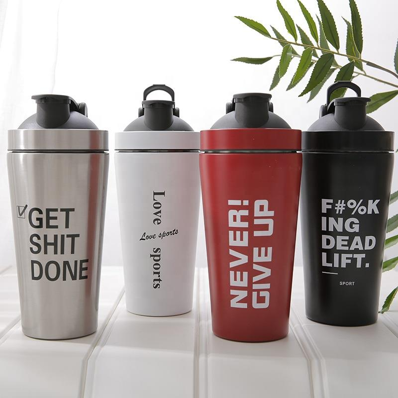 2021 wholesale Metal Stainless Steel Protein Shakers Shaker Bottle