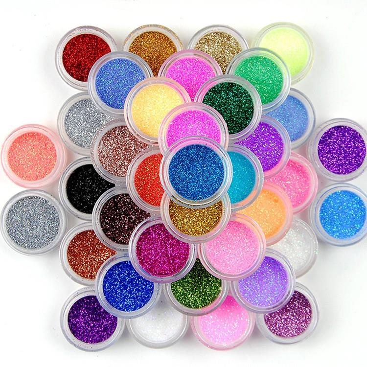 wholesale non toxic loose glitter eyeshadow nail makeup glitter powder