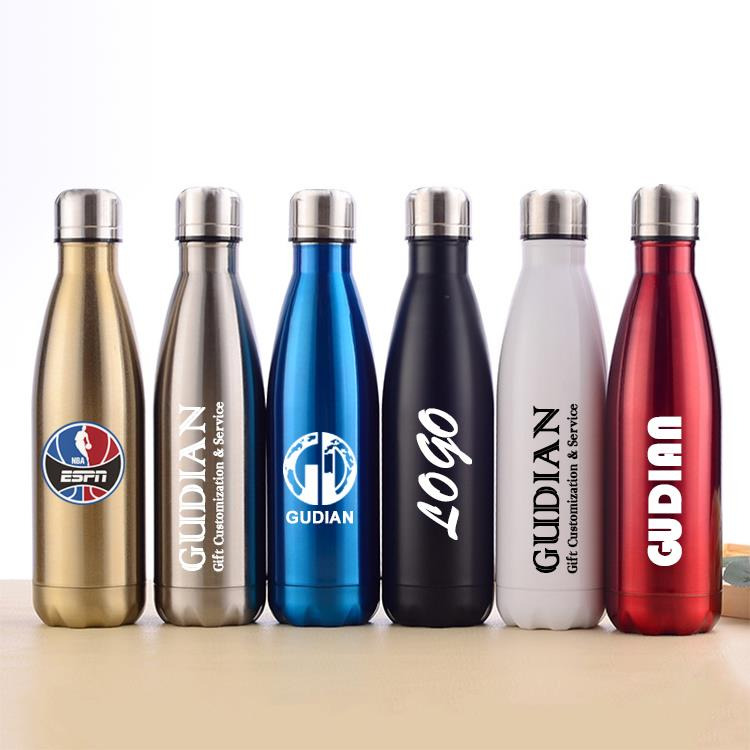 coke cola bottle stainless steel double wall vacuum insulated drinking bottle