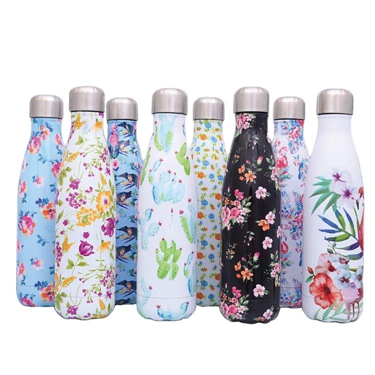 750ML Vacuum Cola Flask Stainless Steel Thermoses Coke Flask Double Wall Water Bottle