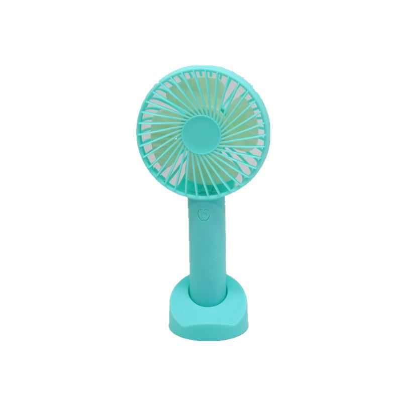 New design innovative mini usb rechargeable standing fan support logo