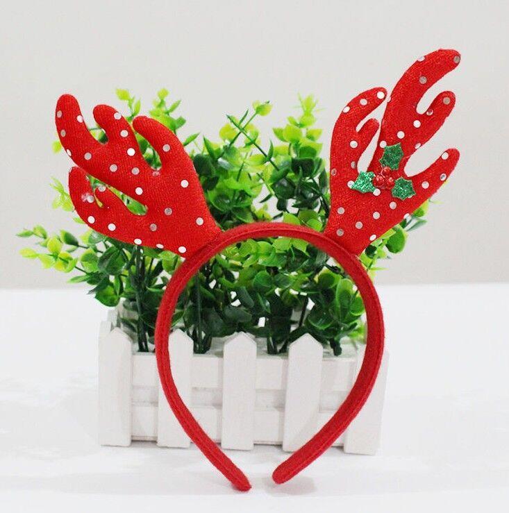 Christmas Headband Santa Claus Xmas Party Decor Clasp Hairband