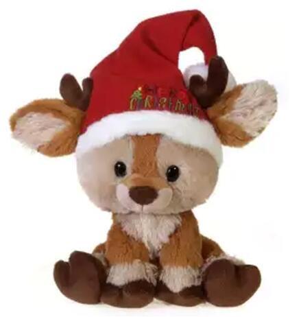 Brown little deer elk doll plush toy/stuffed toy/soft toy