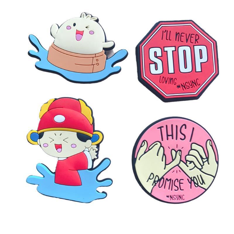 Custom 3D Anime Cartoon Logo Soft PVC Rubber Fridge Magnets