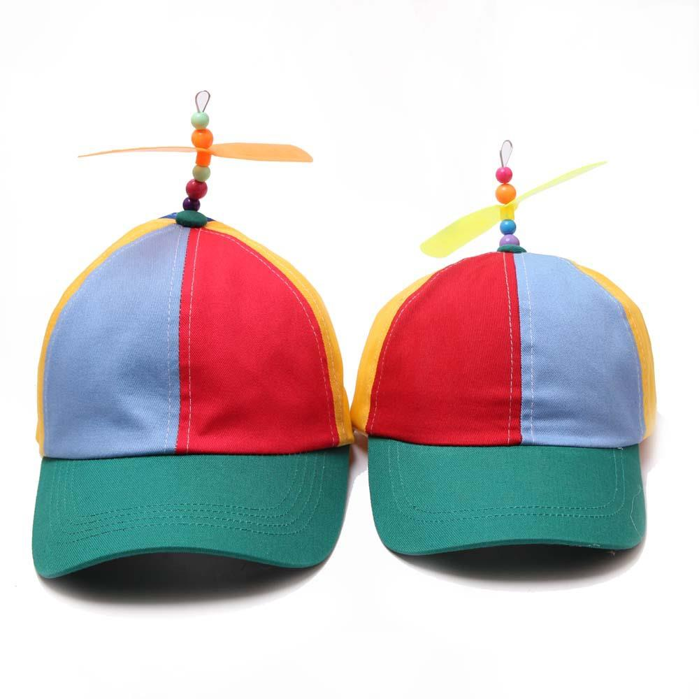 Custom High Quality Multicolor Child Outdoor Safety Snapback Aircraft Propeller Cap