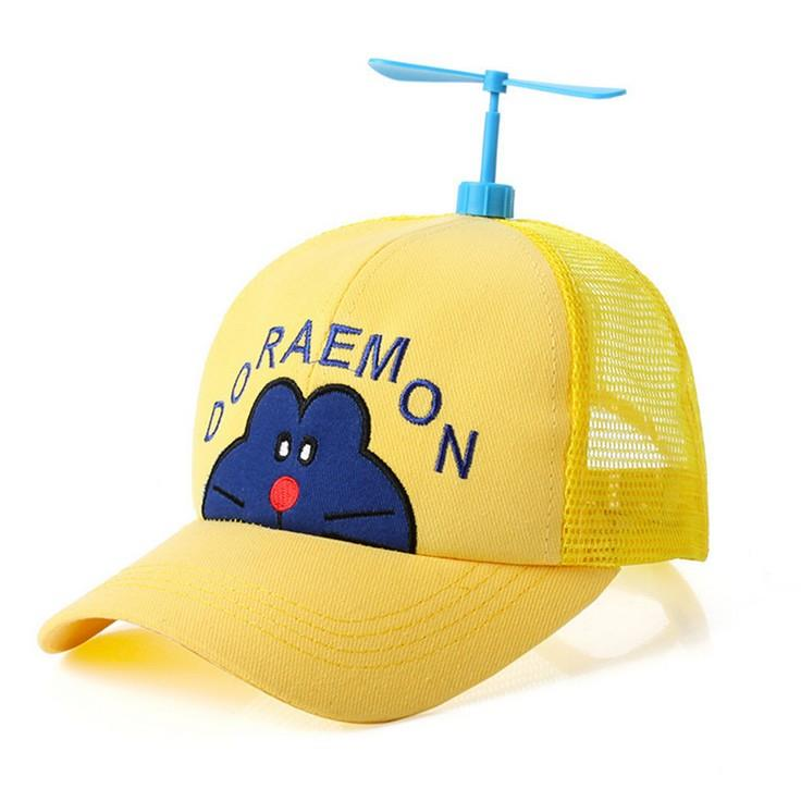 Propeller bamboo dragonfly baseball cap children sunshade parent-child toy cap