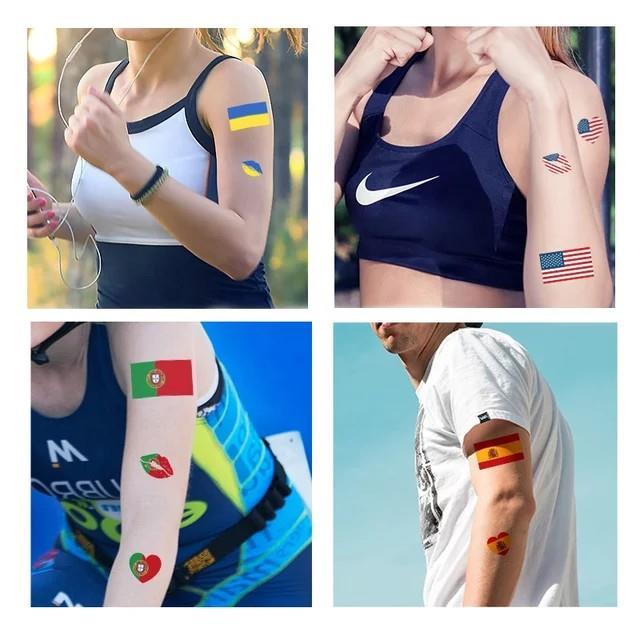 Tattoo Stickers Temporary Brazil Flag Football Body Face Hand Tattoo