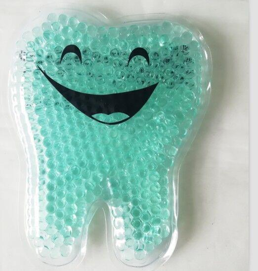 Tooth shape gel beads hot cold ice pack dental promotional gifts